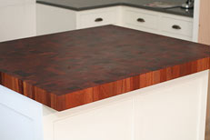 Grothouse Lumber custom wood countertop for This Old House Newton project