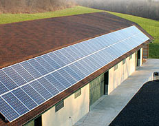 Solar Panels used at The Grothouse Lumber Company facility