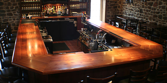 Custom wood bar tops from Grothouse