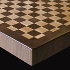 Wenge and Walnut Checkerboard with Roundover Edge