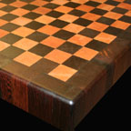 Wenge and Maple Checkerboard with Stripe