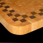 Cherry and Walnut Checkerboard with Radius Corner