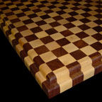 Maple and Walnut Checkerboard with Roundover Edge