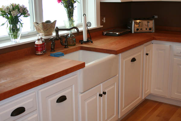 Flat Grain Cherry with Oil Finish and Apron Sink