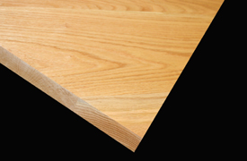 Flat Grain Red Oak with Square Edge