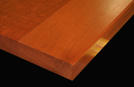 Flat Grain Sapele with Square Edge