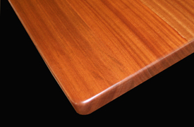 Flat Grain Sapele Mahogany with Roundver and Radius Corner
