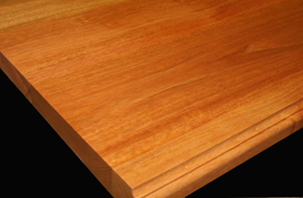 Flat Grain Burmese Teak with Bead and Cove Edge Detail