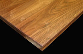 Flat Grain Walnut with Roundover