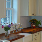 Edge Grain Heartwood Cherry with Apron Sink