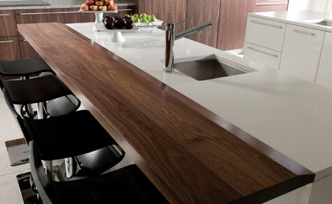 Custom Walnut Countertop by Grothouse