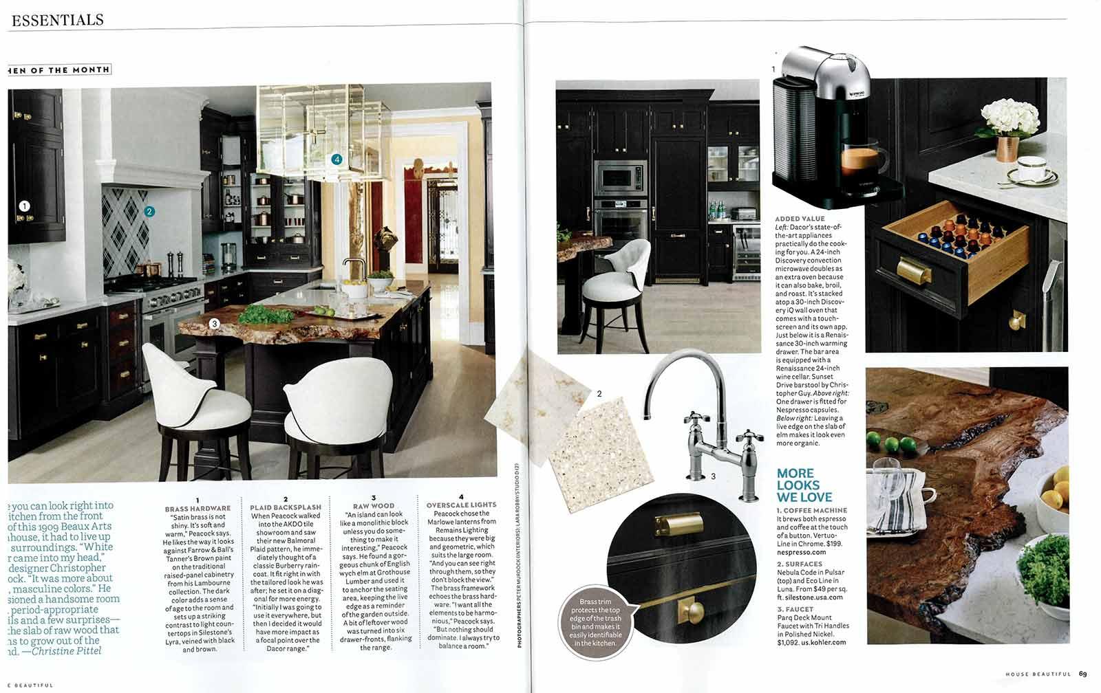 House Beautiful Magazine September 2015 Grothouse Wood Counter In House Beautiful September 2015