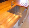 Custom drainboards for kitchen sinks