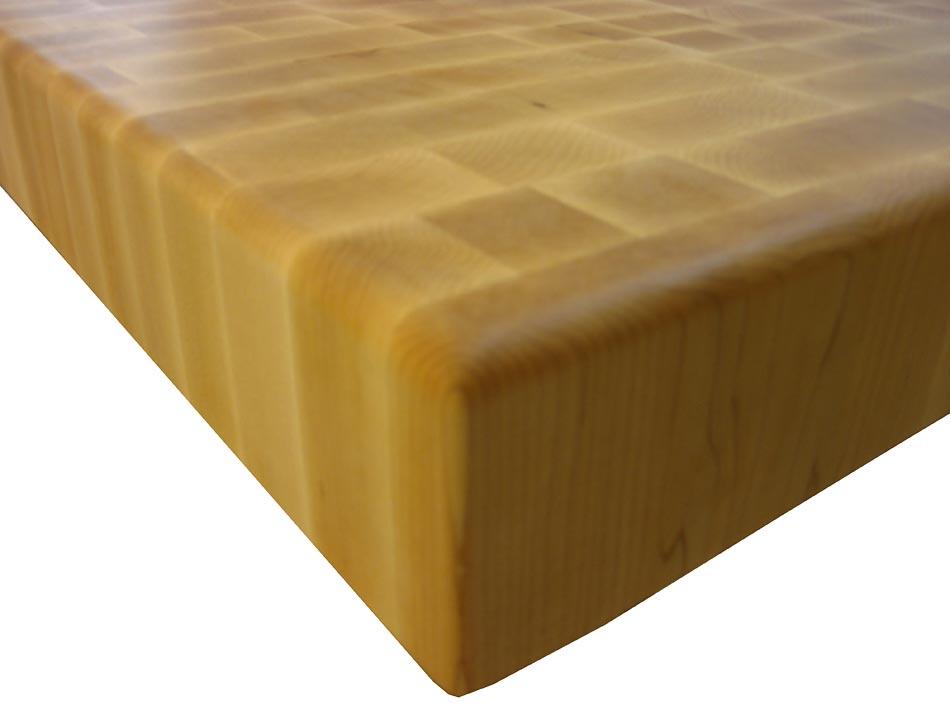 End Grain Maple with Half Inch Roundover Countertop Edges