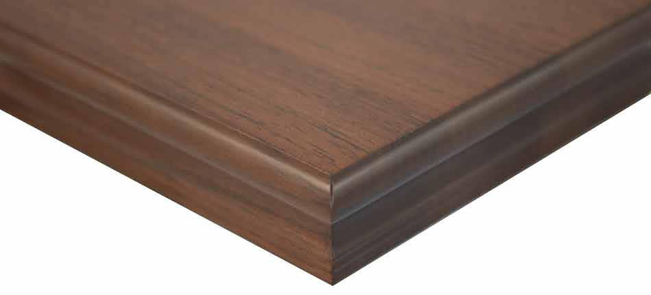 Peruvian Walnut edge grain wood countertop Sonder edge