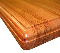 "Edge Grain Brazilian Cherry with 1/2"" Beaded Roundover Countertop Edges"
