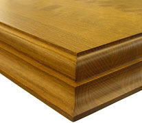 Edge Grain Cherry w/ Medium Double Roman Ogee Countertop Edges
