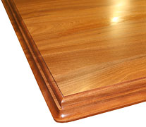 Flat Grain Sapele Mahogany w/ Medium Double Roman Ogee Countertop Edges