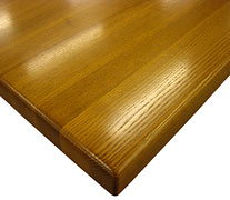 Edge Grain Ash with Three Eights Inch Roundover Countertop Edges