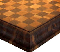 End Grain Cherry w/ Walnut with Medium Roman Ogee Countertop Edges