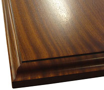Flat Grain Sapele Mahogany with Standard Roman Ogee Countertop Edges
