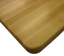 Edge Grain Maple with Quarter Inch Roundover Countertop Edges