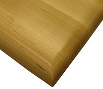 Edge Grain Maple with Three Quarter Inch Roundover Countertop Edges