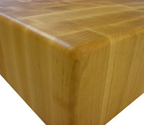 End Grain Maple with Three Eights Inch Roundover Countertop Edges
