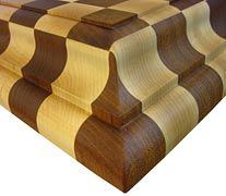 Maple w/ Brazilian Cherry Checkerboard with El Guapo Countertop Edges