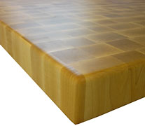End Grain Maple with Quarter Inch Roundover Countertop Edges