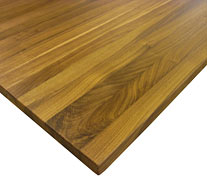 Edge Grain Walnut with Eighth Inch Roundover Countertop Edges