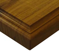 Edge Grain Walnut with Classical Small Bead & Cove Countertop Edges