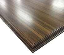Edge Grain Walnut All Heartwood with Conventional Double Roman Ogee Countertop Edges