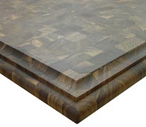 End Grain Walnut with Large Classical Bead and Cove Countertop Edges