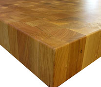 End Grain Walnut with Eighth Inch Roundover Countertop Edges