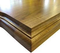 Flat Grain Walnut with Classical Small Bead & Cove Countertop Edges