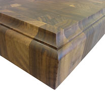 End Grain Walnut with Classical Small Bead Cove Countertop Edges