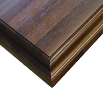 Edge Grain Peruvian Walnut with Standard Roman Ogee Countertop Edges