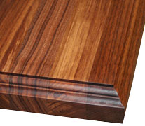 Edge Grain Walnut with Standard Double Roman Ogee Countertop Edges