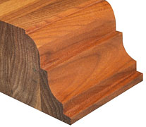 Edge Grain Walnut with Super Double Roman Ogee w/ Notch Countertop Edges
