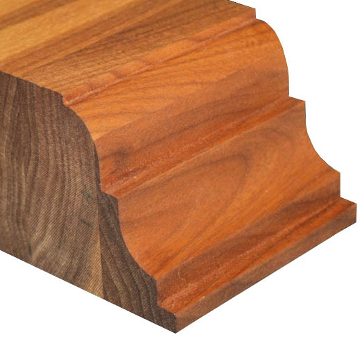 Super Double Roman Ogee With Notch Countertop Edge Profile