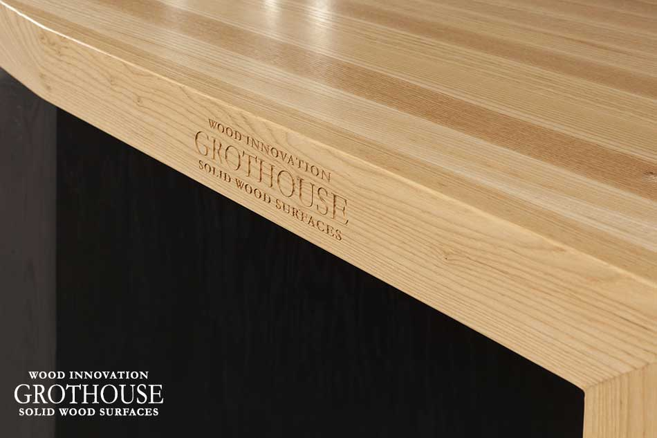 Custom Ash Pastore Countertop with Engraving