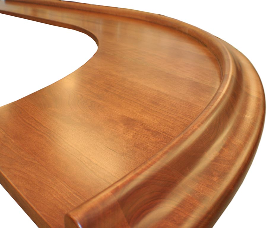 Wood Bar top Synthesis rail