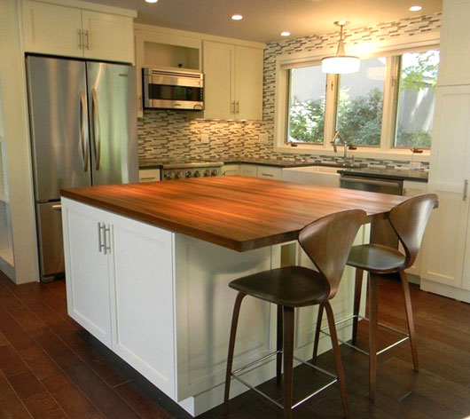 Custom Teak Wood Countertop in Madison, NH