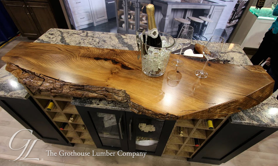 Live Edge Wood Countertop Of English Wych Elm In Medina Ohio