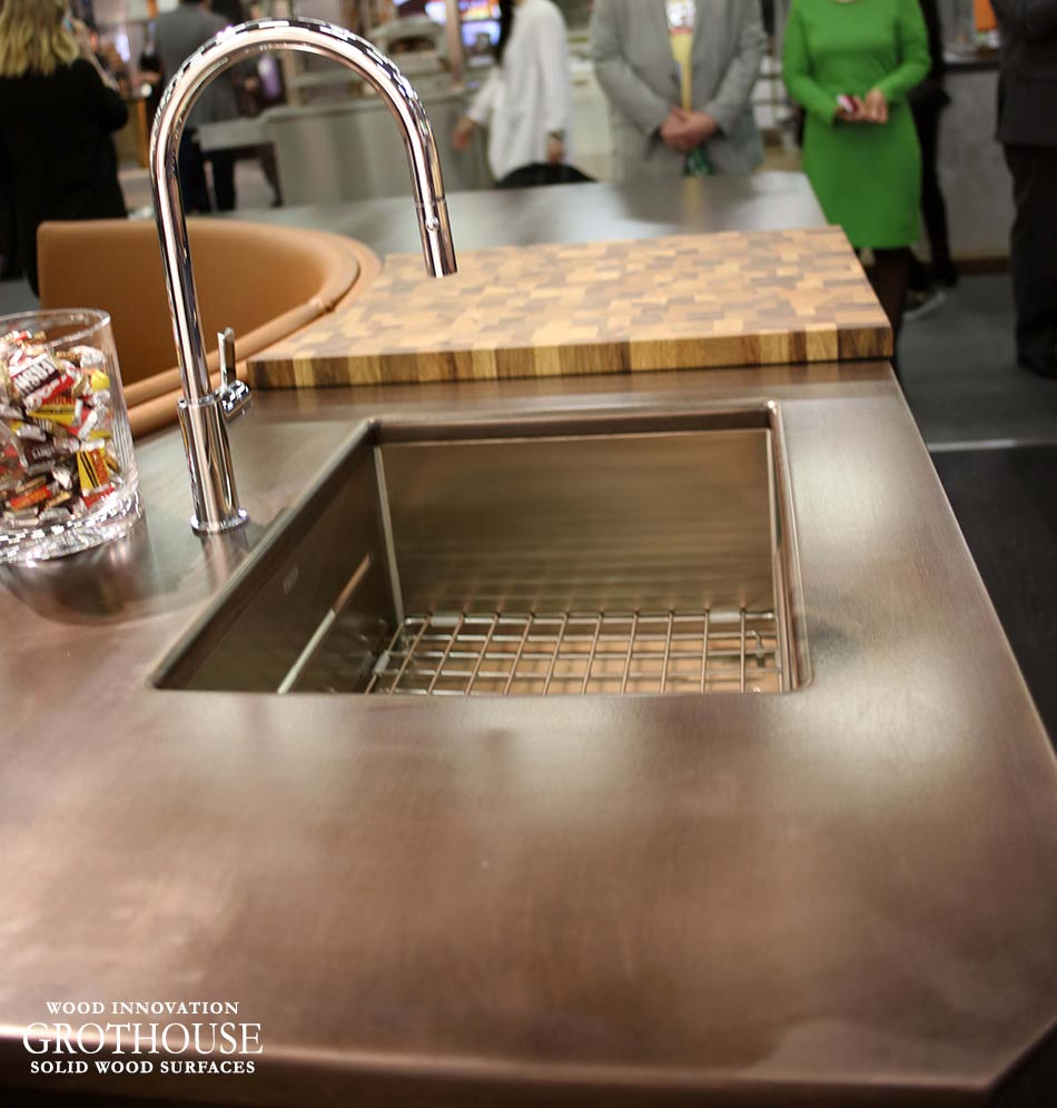 Anvil Exodus Metal Countertop with Franke Sink and Faucet in NYC