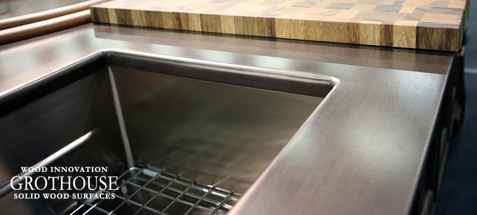 Anvil Exodus Metal Kitchen Countertop in NYC