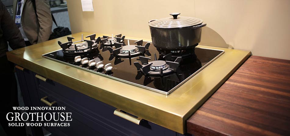 Anvil Magnum Metal Countertop with a Cooktop