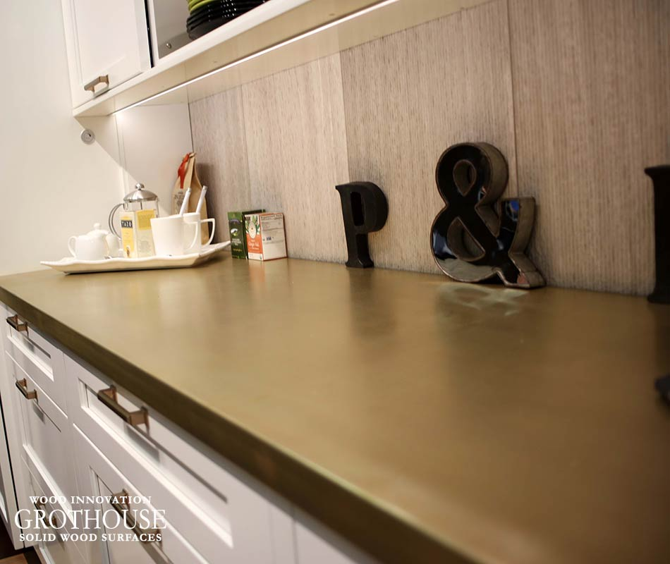 Anvil Magnum Metal Finish On Maple Countertop By Grothouse