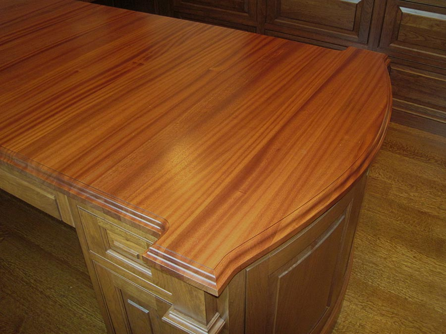 Custom Sapele Mahogany Wood Countertops In Philadelphia, Pennsylvania
